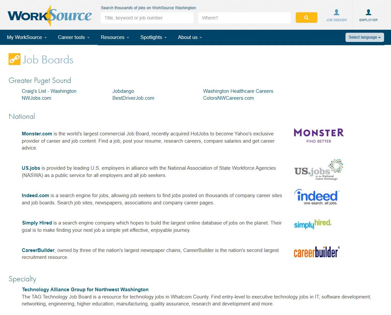 Job Board screenshot